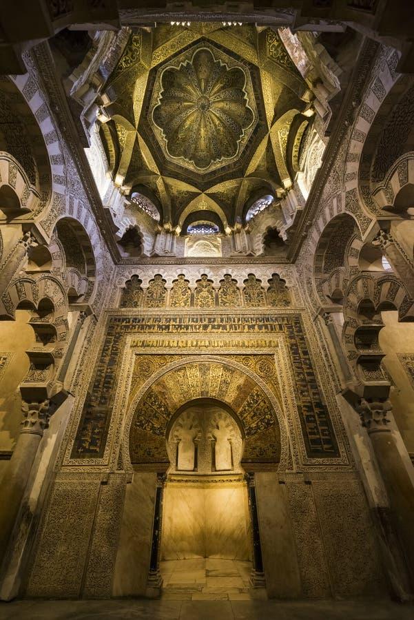 Интерьеры Mezquita в Cordoba стоковое фото rf