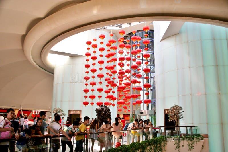Интерьер башни жемчуга Шанхая Китая стоковые фотографии rf