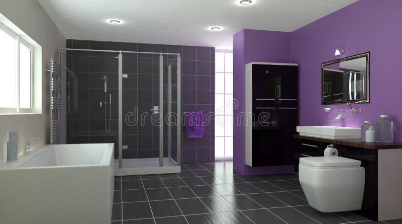 интерьер ванной комнаты современный бесплатная иллюстрация