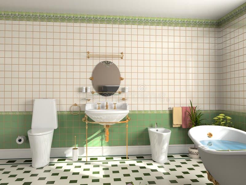 интерьер ванной комнаты иллюстрация вектора
