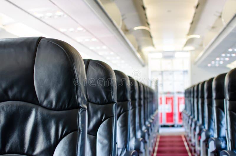 Интерьер взгляда места самолета стоковые изображения