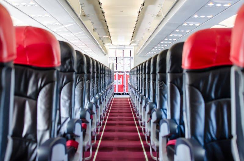 Интерьер взгляда места самолета стоковое изображение