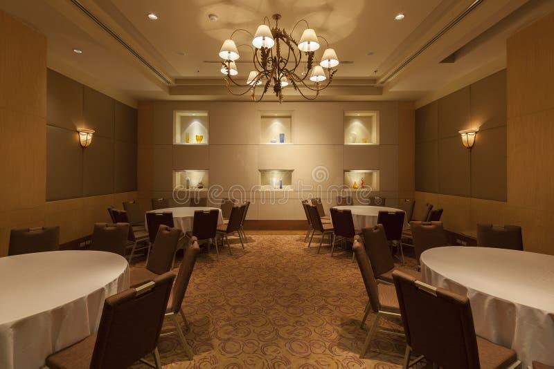 Интерьер взгляда ресторана гостиницы стоковое изображение rf