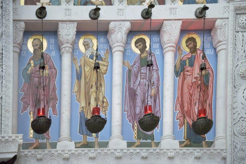 Интерьер военноморского собора St Nicholas - продолжайте стоковая фотография