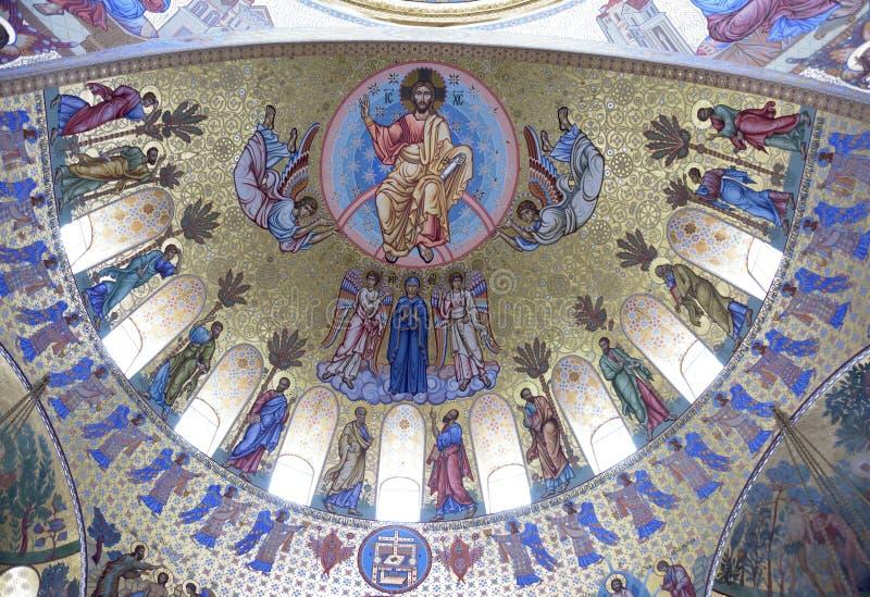 Интерьер военноморского собора St Nicholas стоковое фото rf