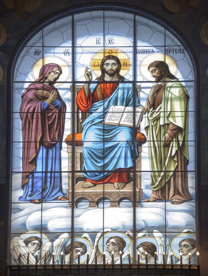 Интерьер военноморского собора St Nicholas стоковые фотографии rf