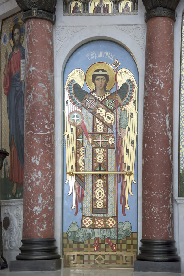 Интерьер военноморского собора St Nicholas стоковая фотография