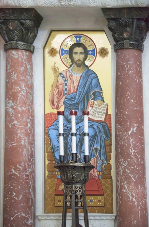 Интерьер военноморского собора St Nicholas стоковые изображения