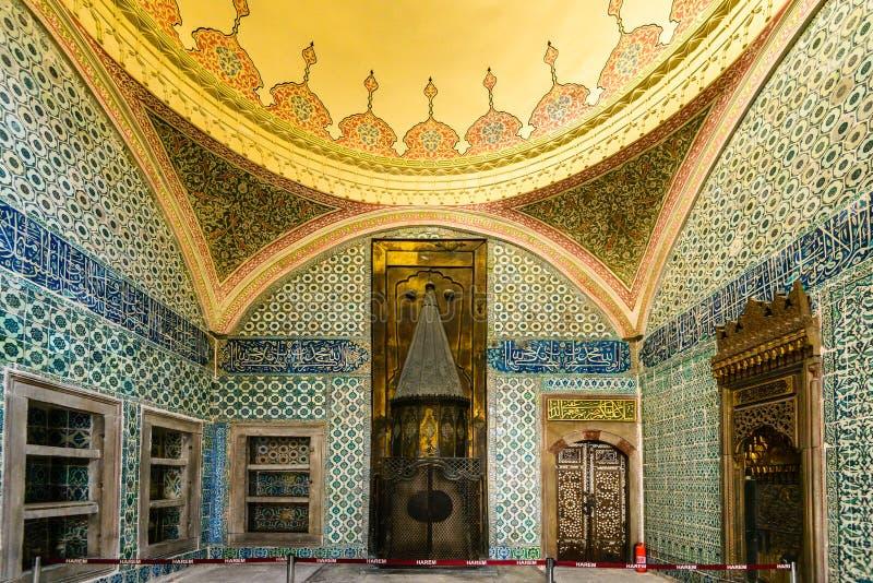 Интерьер дворца Topkapi стоковая фотография rf