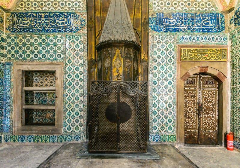 Интерьер дворца Topkapi стоковые фотографии rf