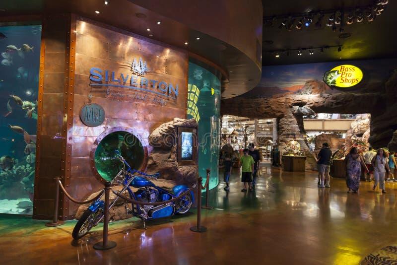 Интерьер в Лас-Вегас, NV казино Silverton 20-ого августа 2013 стоковые изображения rf