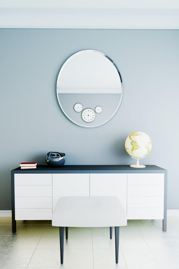 Интерьер в современном стиле с яркими цветами стоковая фотография rf