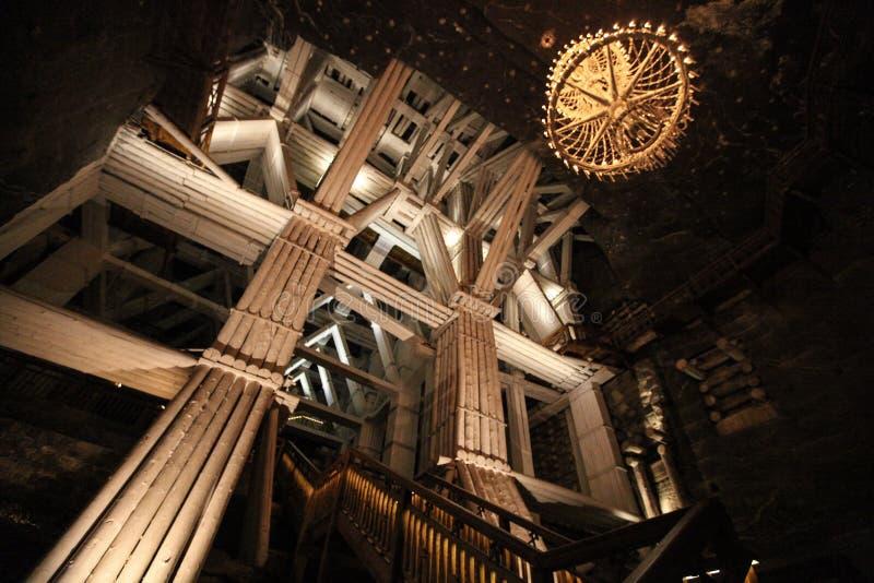 Интерьер в солевых рудниках в Wieliczka стоковые изображения rf