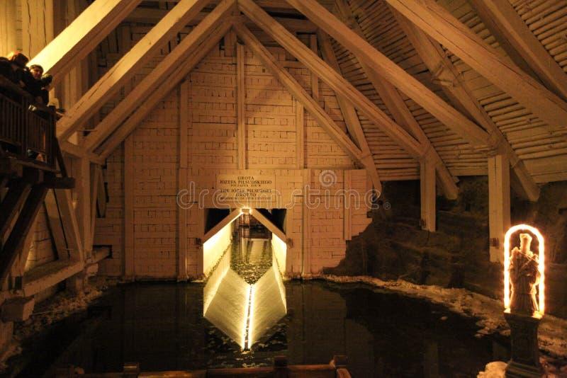 Интерьер в солевых рудниках в Wieliczka стоковые изображения