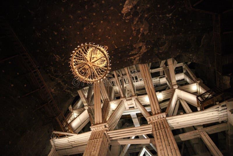 Интерьер в солевых рудниках в Wieliczka стоковое фото