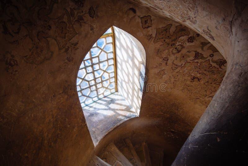 Интерьер дворца Али Qapu, Ирана стоковое фото rf