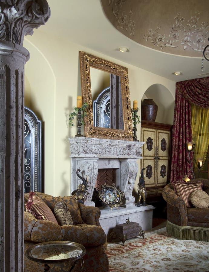 интерьер дома конструкции украшения стоковое изображение rf