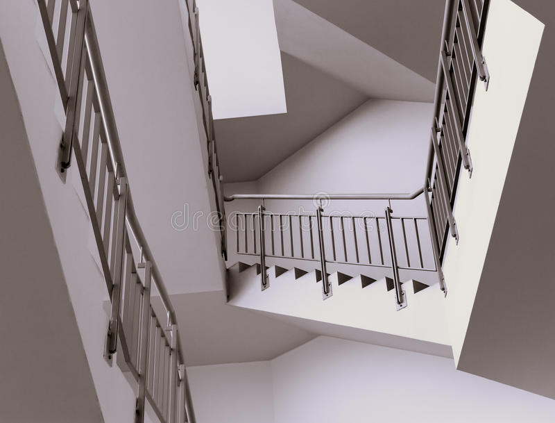 Интерьер лестницы современный стоковые фото