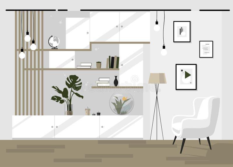 Интерьер живущей комнаты в ярких цветах стоковая фотография