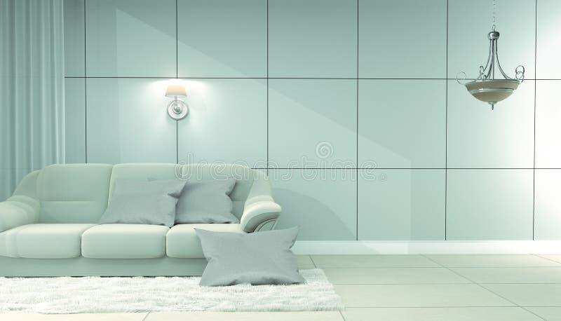 Интерьер живущей комнаты - роскошный стиль r бесплатная иллюстрация