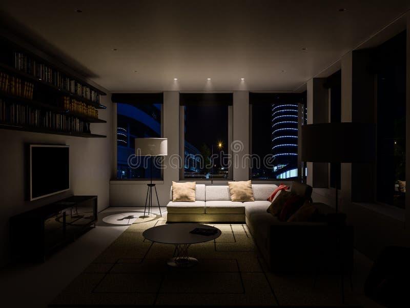 Интерьер живущей комнаты стоковое фото