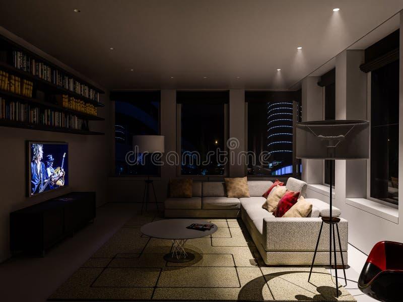 Интерьер живущей комнаты стоковые фото