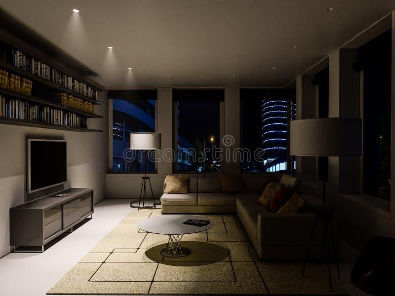 Интерьер живущей комнаты стоковое изображение