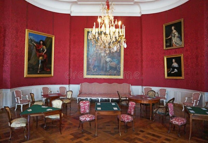 Интерьер замка замка Chambord стоковые фотографии rf
