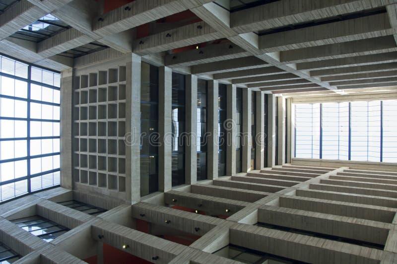 Интерьер здания в Батавия, IL лаборатории Ферми стоковая фотография