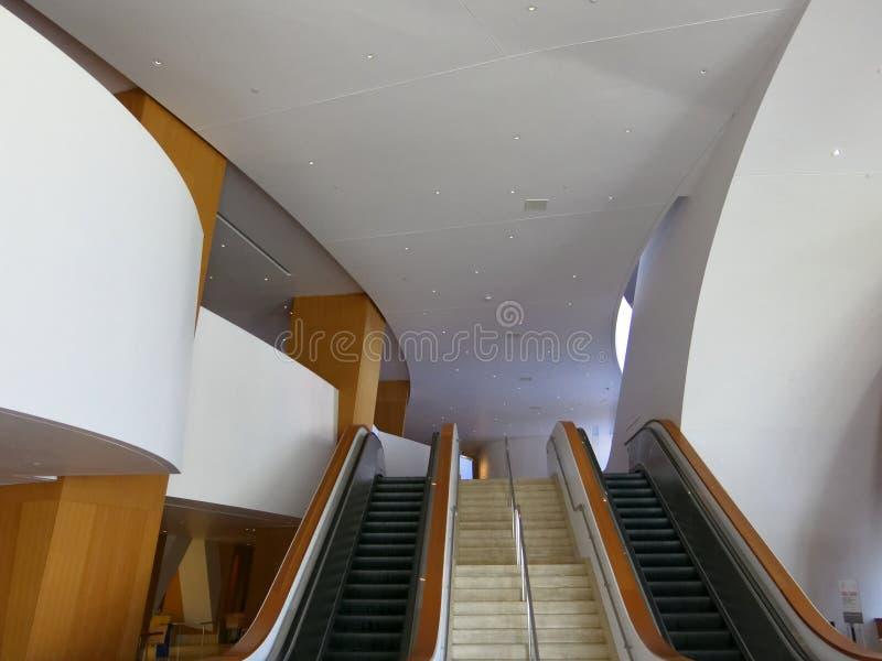 Интерьер Калифорнии концертного зала Дисней стоковое изображение rf