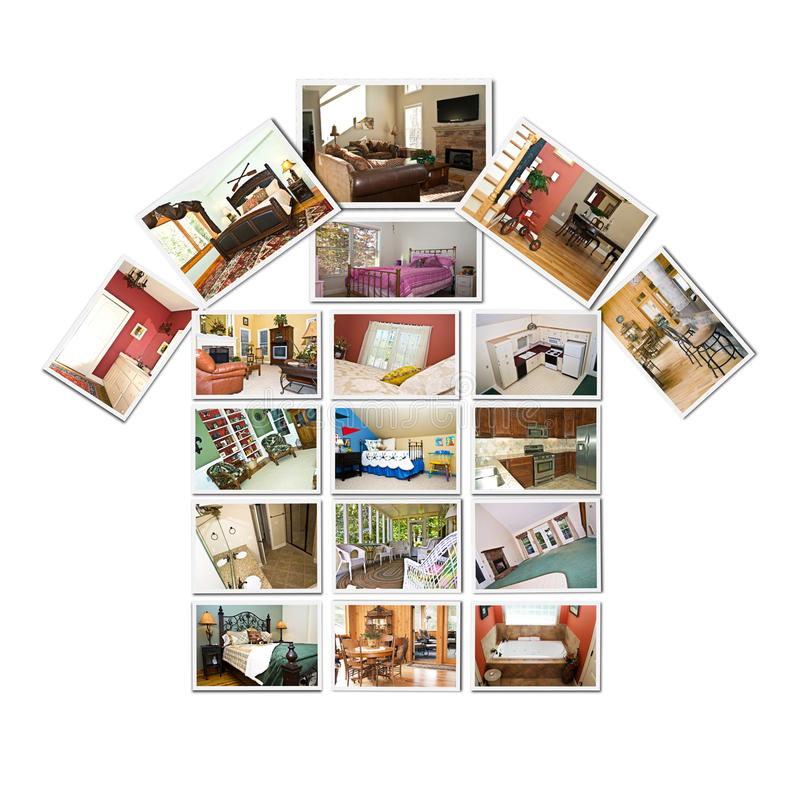 интерьер коллажа домашний стоковое фото