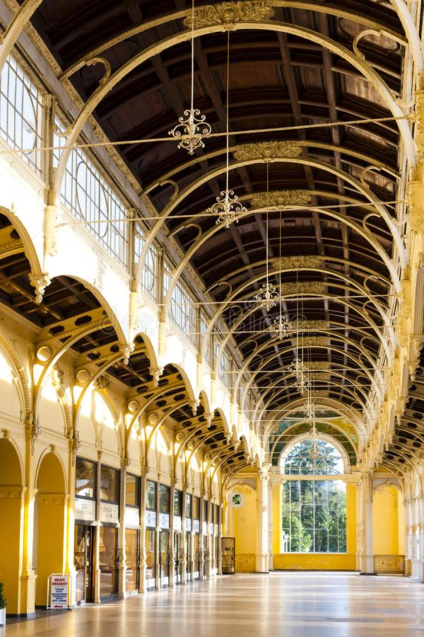 интерьер колоннады, Marianske Lazne & x28; Marienbad& x29; , Чех Republ стоковые фото