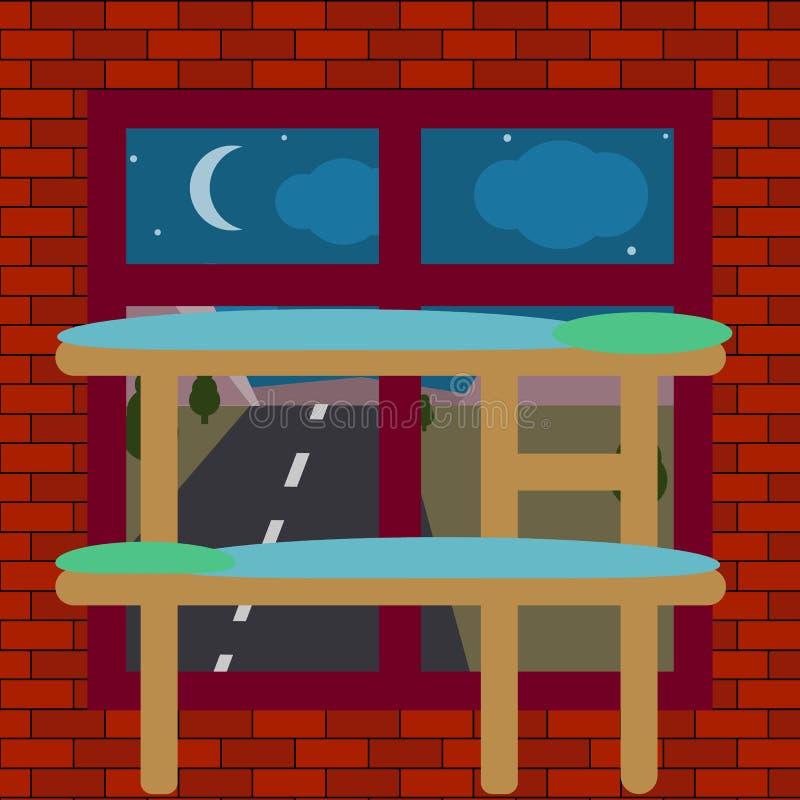 Интерьер комнаты общежития иллюстрация вектора