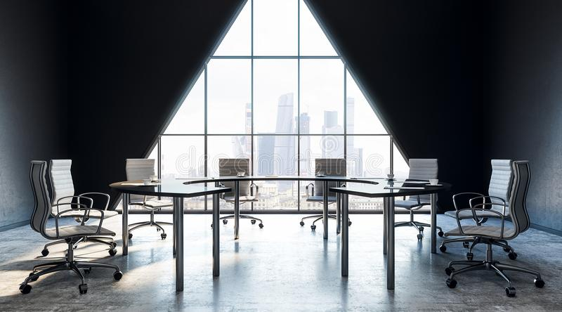 Интерьер конференц-зала иллюстрация вектора