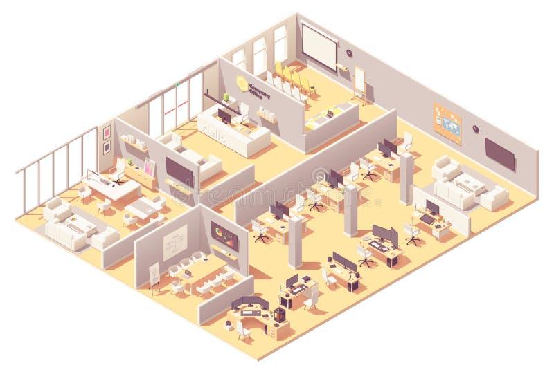 Интерьер корпоративного офиса вектора равновеликий бесплатная иллюстрация