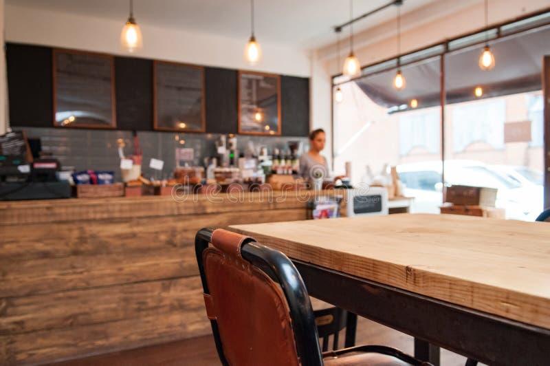 Интерьер кофейни стоковая фотография