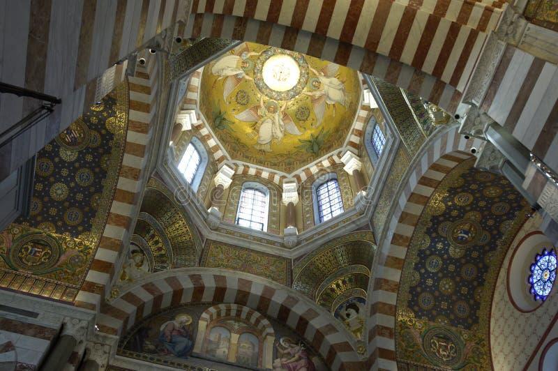 Download Интерьер Ла Garde Нотр-Дам De в марселе Стоковое Изображение - изображение насчитывающей церковь, синагога: 33738545