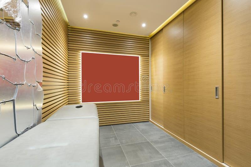 Интерьер массажного кабинета в центре здоровья стоковые изображения rf