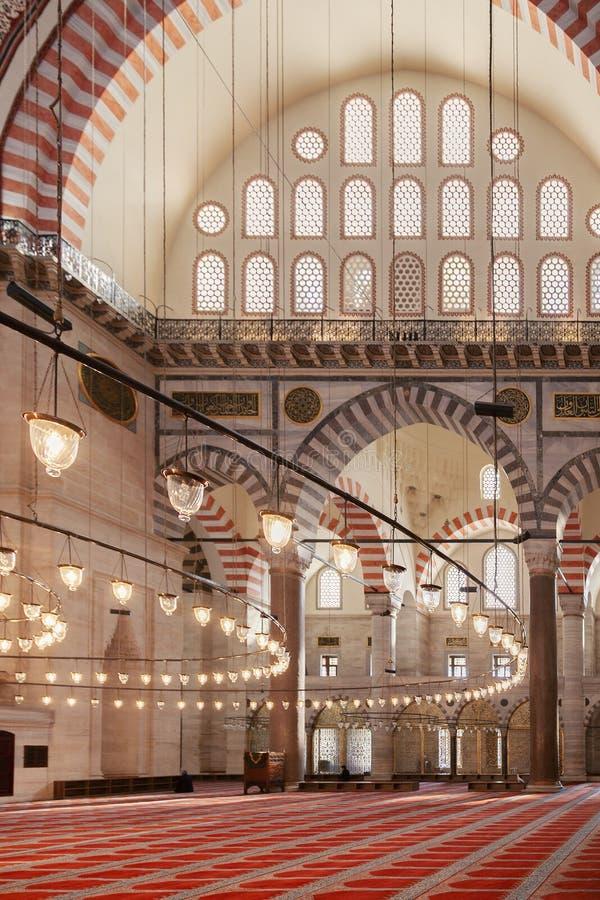 Интерьер мечети Стамбула стоковое изображение