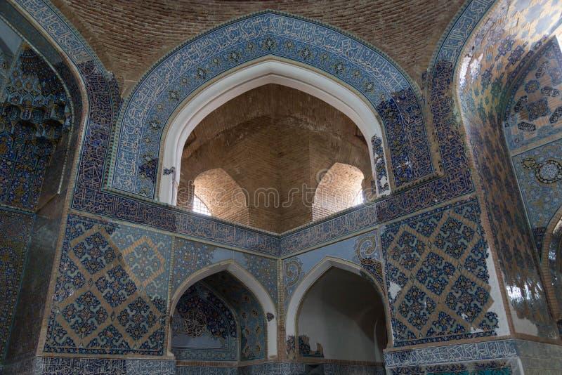 Интерьер мечети Kabud стоковое фото