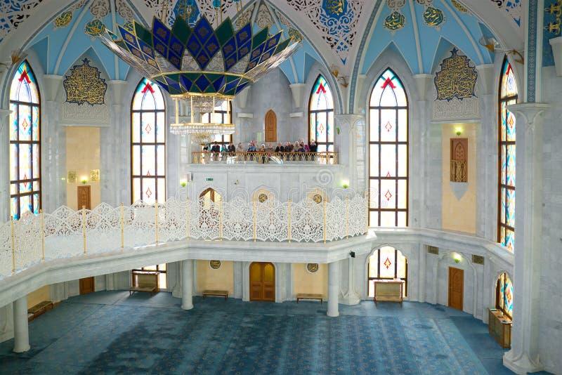 Интерьер мечети Kul-Sharif КАЗАНЬ КРЕМЛЬ стоковая фотография rf