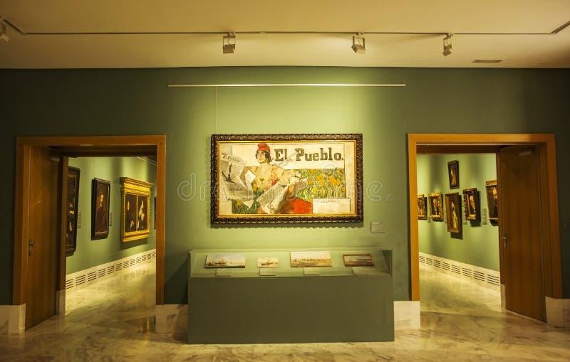 Интерьер музея изящных искусств Валенсии стоковые изображения
