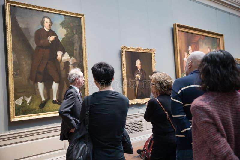 Интерьер национальной галереи искусства, национального музея изобразительных искусств в Вашингтоне, d C стоковое изображение rf