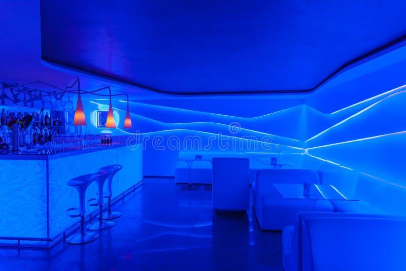 Интерьер ночного клуба стоковое изображение rf