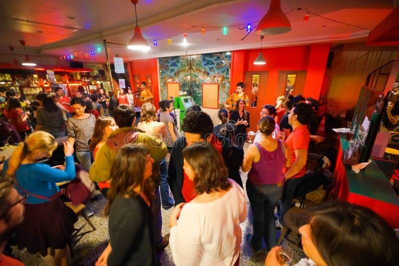 Интерьер ночного клуба стоковая фотография rf