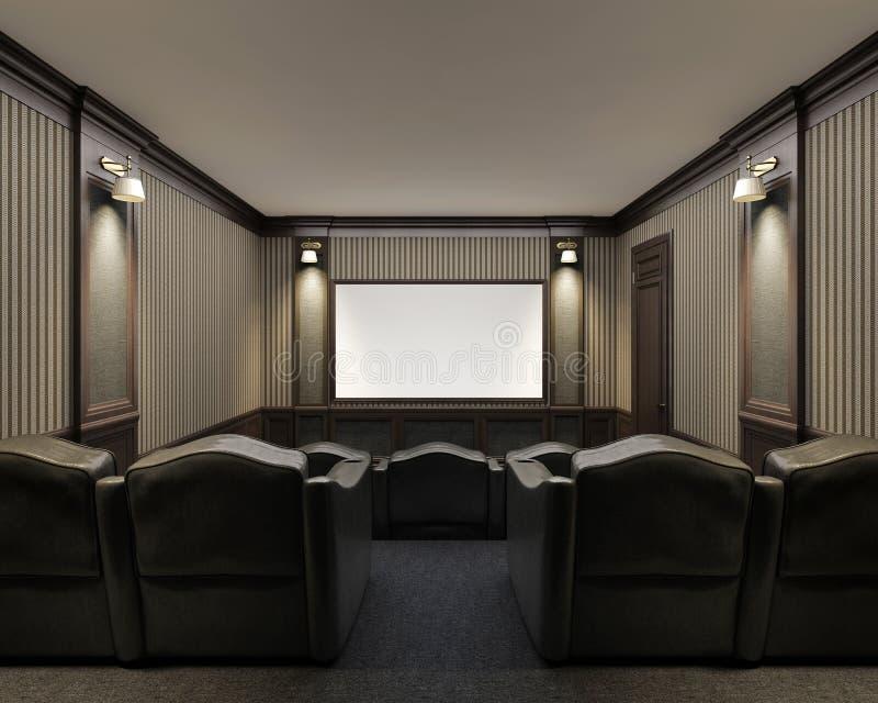 Интерьер домашнего кинотеатра стоковая фотография rf