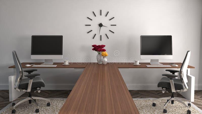 Интерьер офиса иллюстрация 3d бесплатная иллюстрация