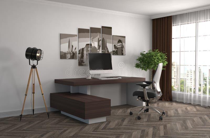 Интерьер офиса иллюстрация 3d иллюстрация штока