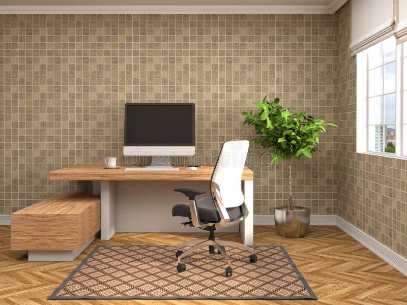 Интерьер офиса иллюстрация 3d иллюстрация вектора