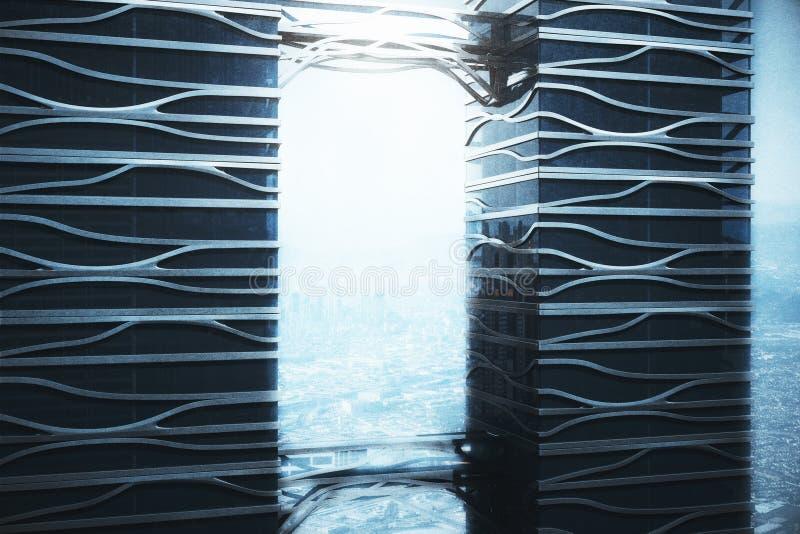 Интерьер офиса Wireframe бесплатная иллюстрация